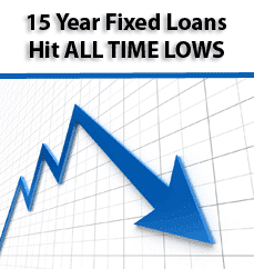 All time lows for 15 year fixed rate mortgages