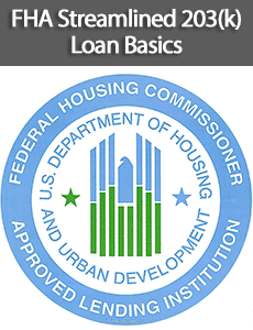 FHA Streamlined 203(k) Loan Basics