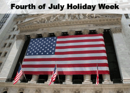 Fourth of July Holiday Week