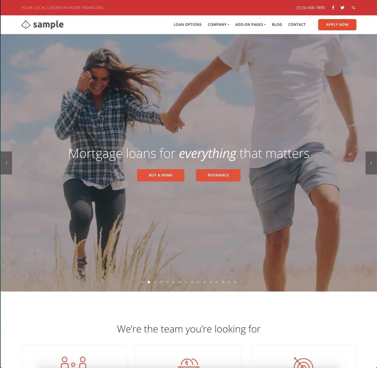 LeadPress Lead Generation Website Demo
